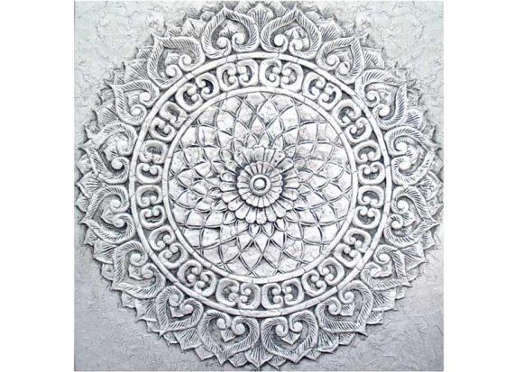 cuadro-oriental-mandala-gris
