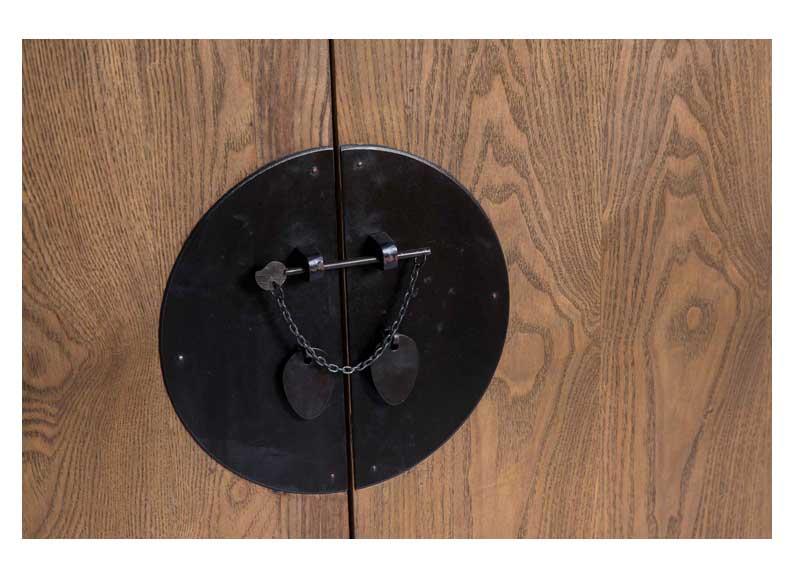 Armario chino madera natural 3 huecos 2 cajones original for Armario madera natural