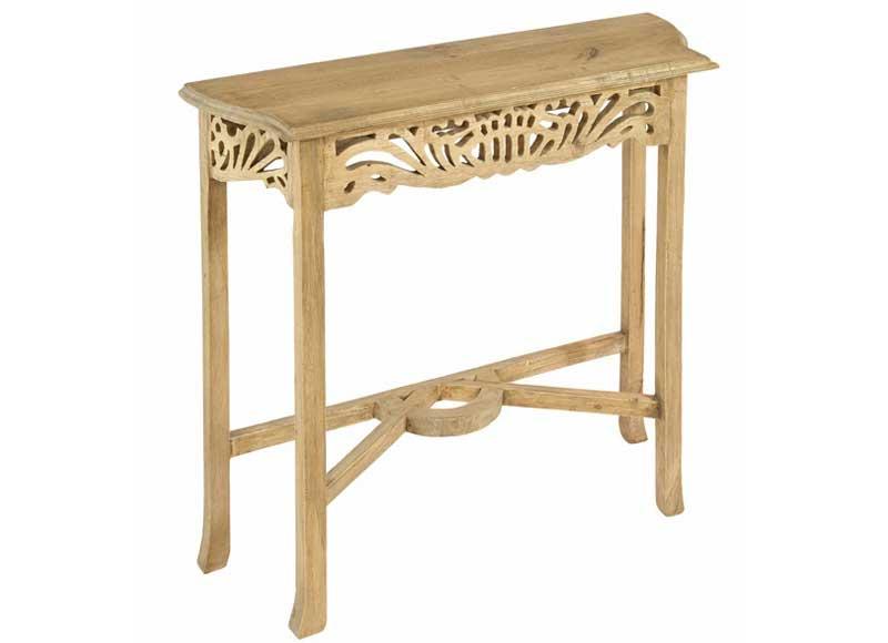 Consola de recibidor calada madera natural original house - Consola estrecha ...