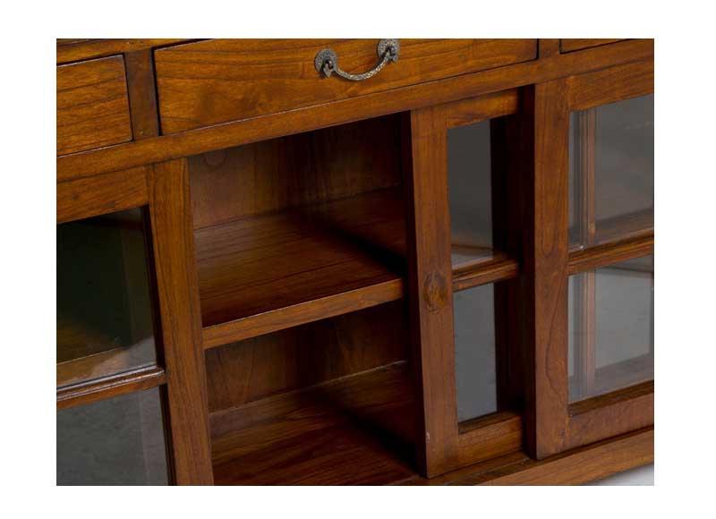Aparador colonial 3 puertas correderas 3 cajones for Puertas correderas comedor