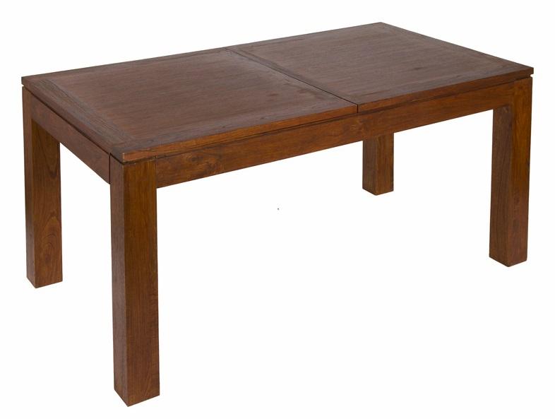 Mesa de comedor rectangular extensible central 160 for Mesa rectangular extensible