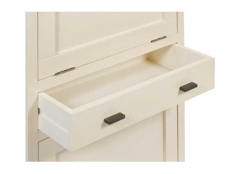 Mueble zapatero blanco estrecho 2 puertas caj n original for Mueble zapatero ancho