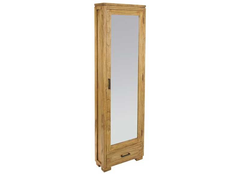 Mueble zapatero n rdico con espejo original house for Armario alto zapatero con espejo