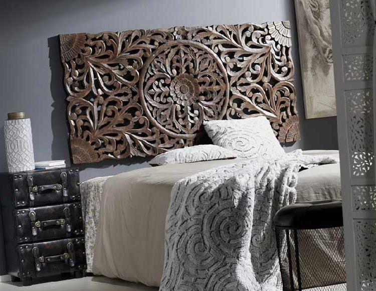 cabecero-dormitorio-cuadro-mandala-marron
