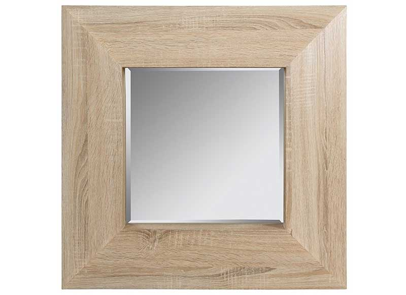 espejo cuadrado peque o madera natural original house