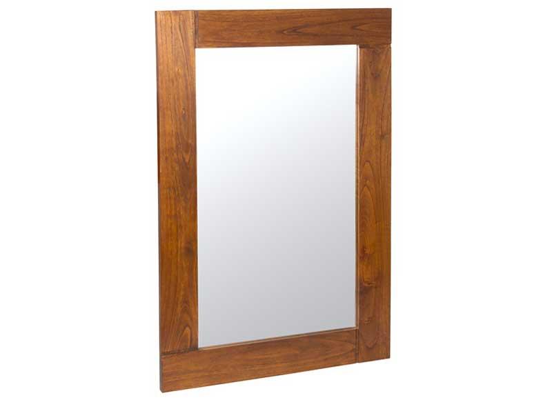 Espejo rectangular sencillo madera color nogal 120 for Espejo rectangular grande