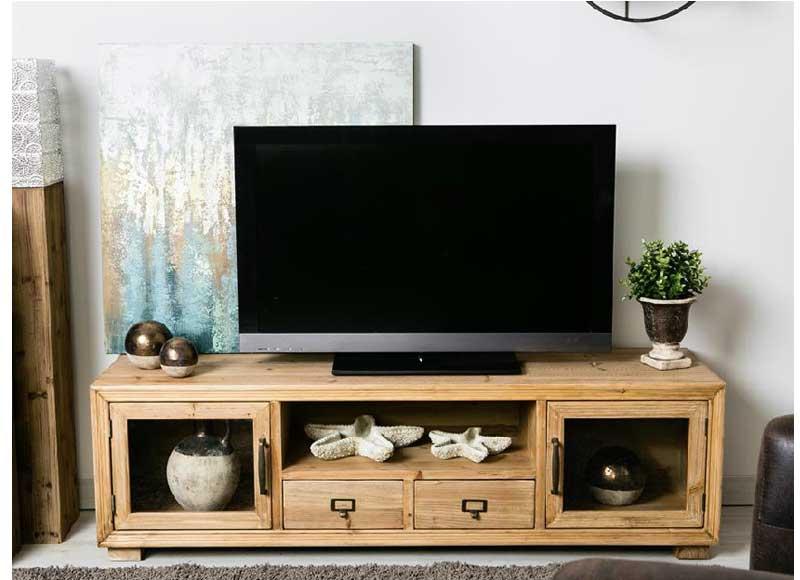 Mueble de televisi n estilo n rdico madera abeto - Mueble tv nordico ...