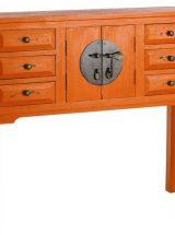 consola-recibidor-oriental-naranja-medallon