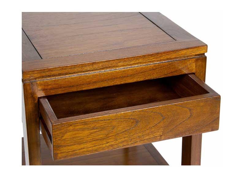 Mesa auxiliar con estante y caj n original house - Estante con cajon ...