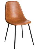 silla-tapizada-polipiel-cuero-metal