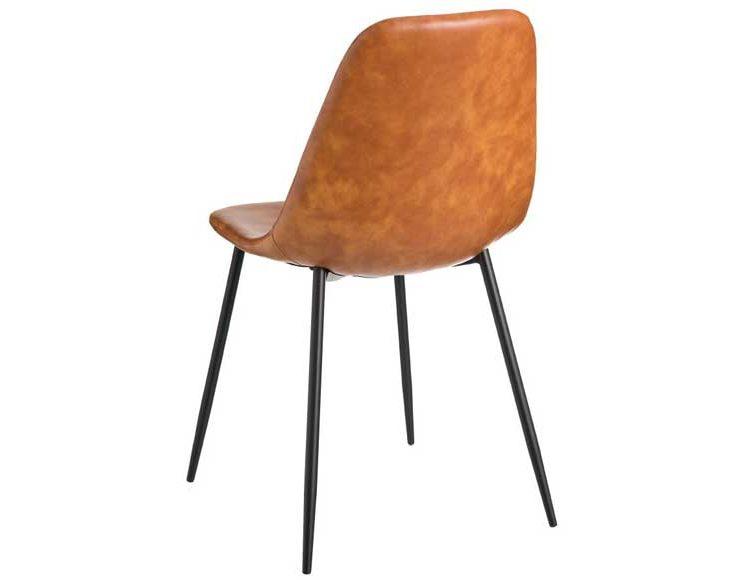 silla-tapizada-polipiel-cuero-patas-metal