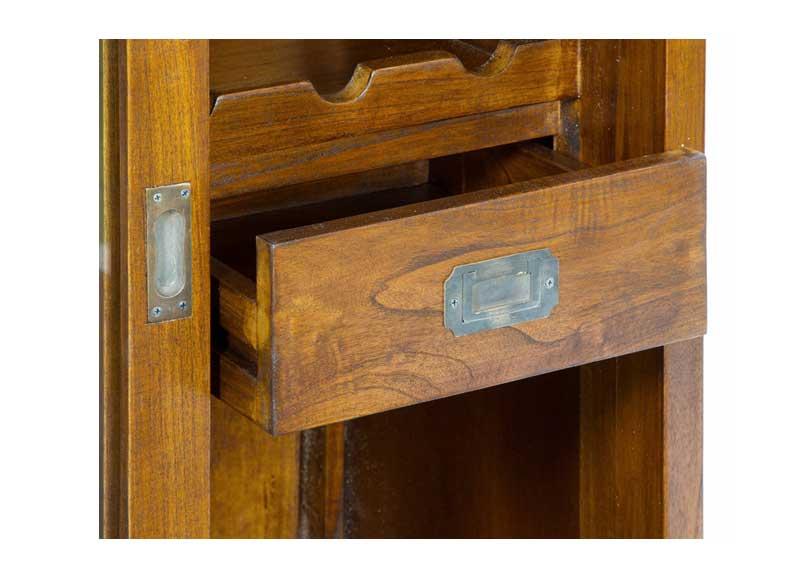 Mueble bar colonial puertas correderas cajones original - Mueble puertas correderas ...