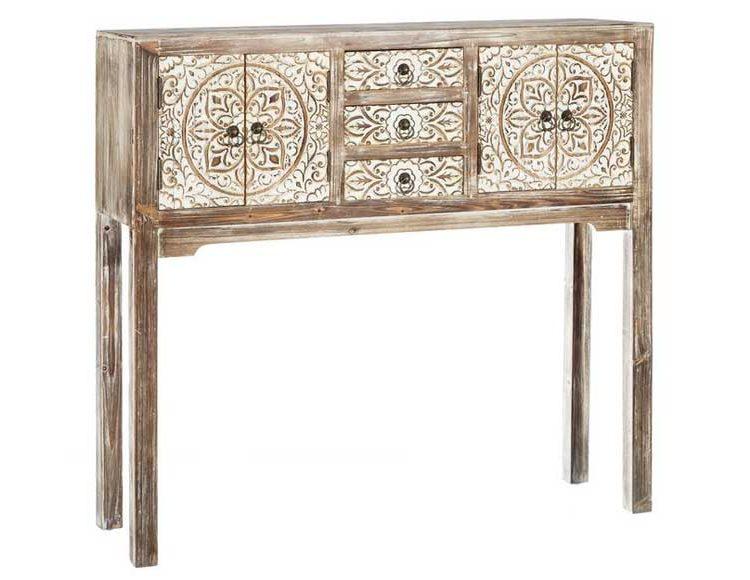 consola-etnica-puertas-madera-natural