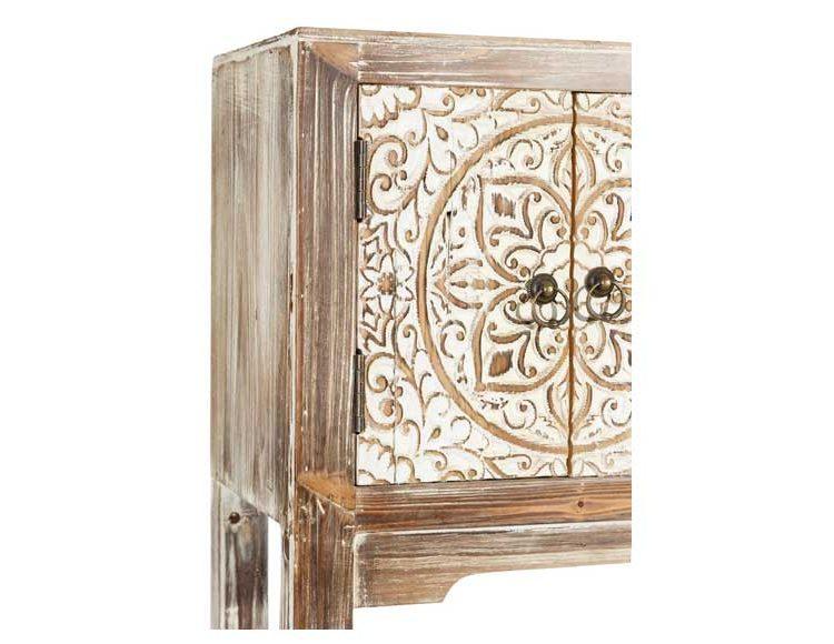 consola-etnica-puertas-madera-natural-detalle