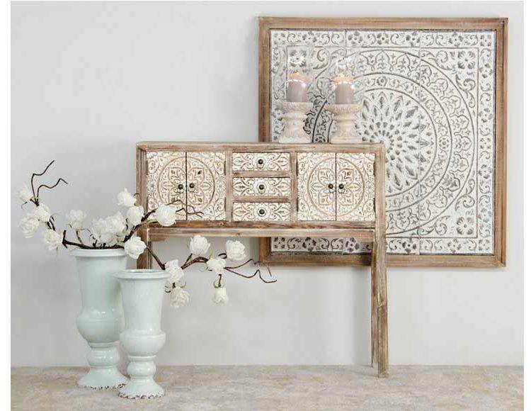 consola-etnica-puertas-madera-natural-recibidor