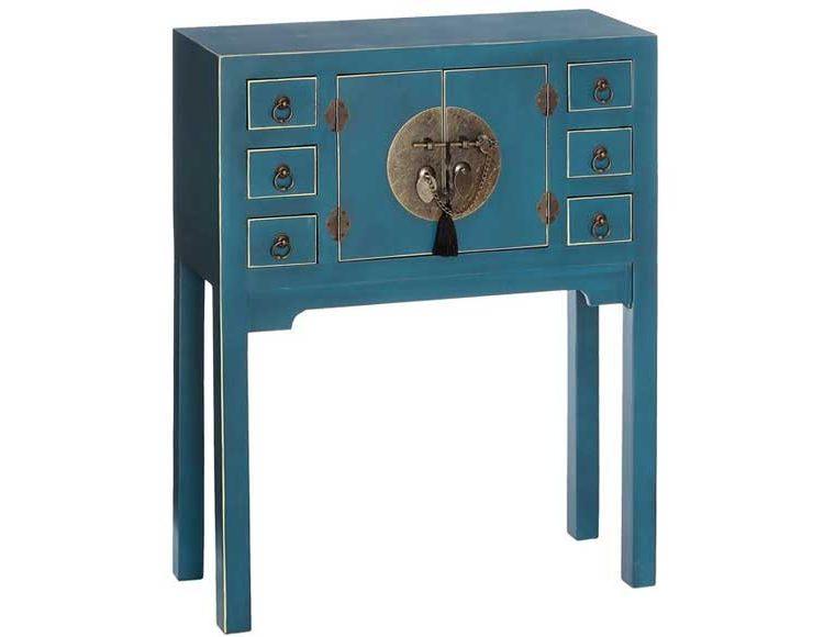 consola-oriental-azul-pequeña