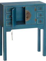 consola-oriental-azul-pequeña-abierta