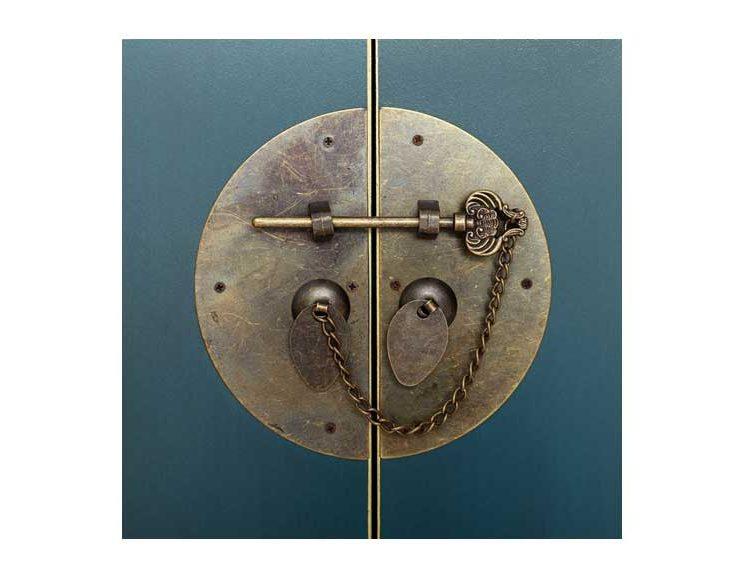 consola-oriental-azul-pequeña-medallon