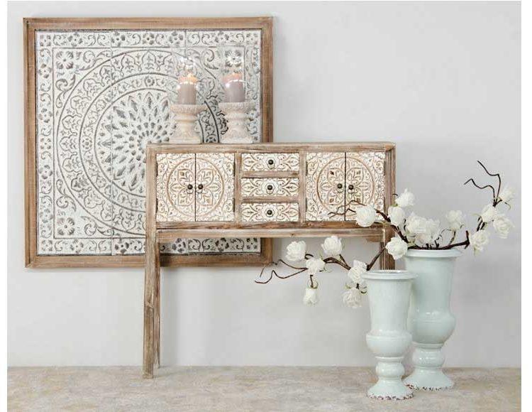 consola-oriental-natural-mandala-blanca-recibidor