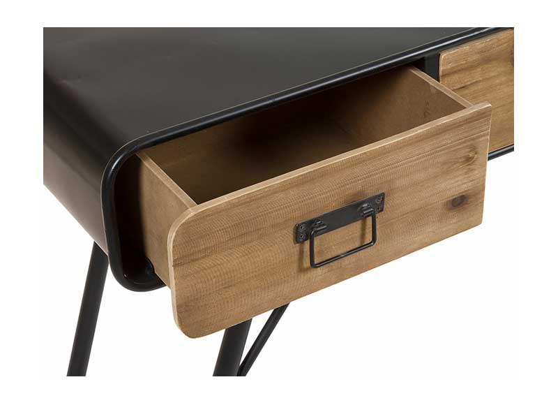 Consola de recibidor estilo industrial madera metal for Consola estilo industrial
