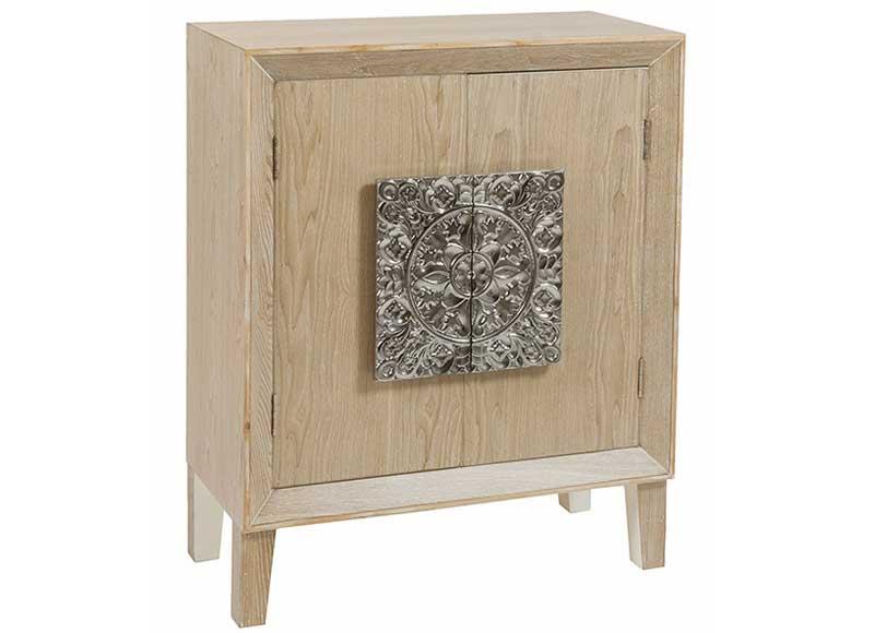 Consola de recibidor etnica madera natural clara - Consola pequena recibidor ...