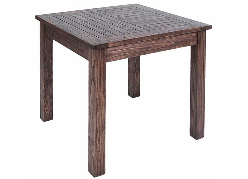 Mesa de comedor colonial cuadrada madera oscura original - Mesa comedor colonial ...