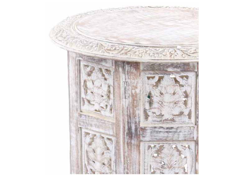 Mesa de rinc n arabe madera blanca envejecida original house - Madera blanca envejecida ...