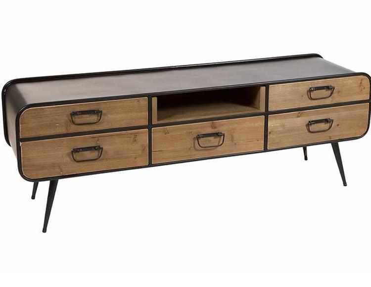 mueble-television-industrial-metal-madera
