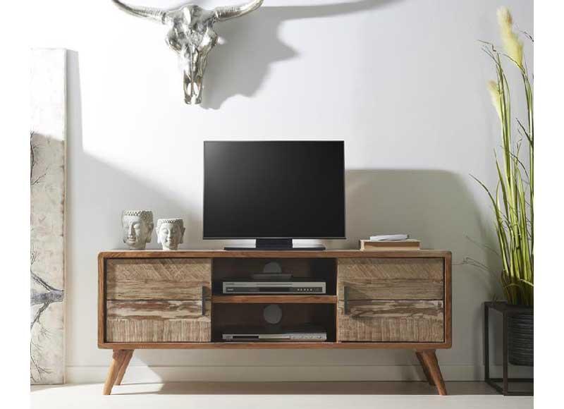 Mueble de televisi n r stico actual madera acacia original house - Muebles rusticos para tv ...