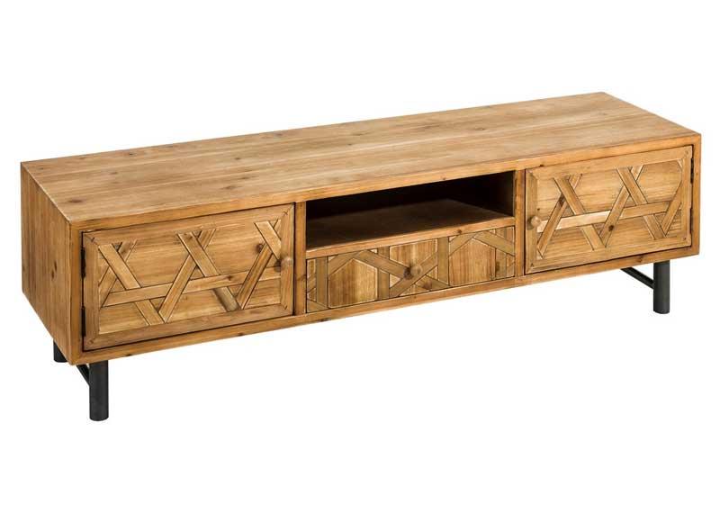 Mueble de televisi n r stico industrial puertas original for Comprar mueble industrial