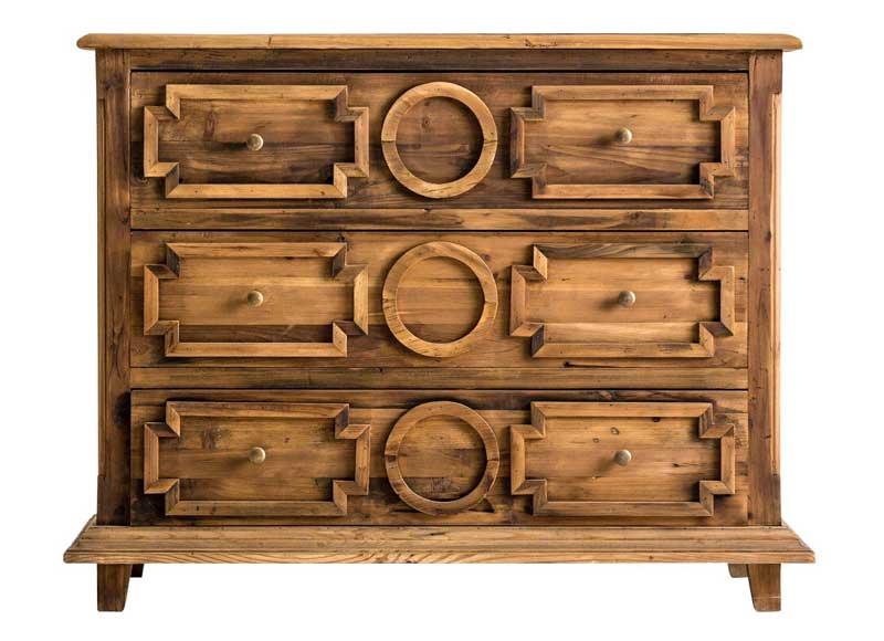 C moda colonial madera natural pino reciclado original house - Comodas de dormitorio ...
