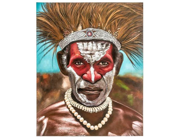 cuadro-guerrero africano