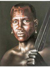 cuadro-guerrero-africano-lanza