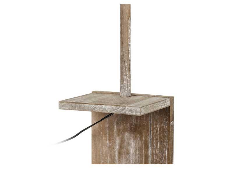L mpara de suelo con repisa madera natural original house for Revisteros de suelo