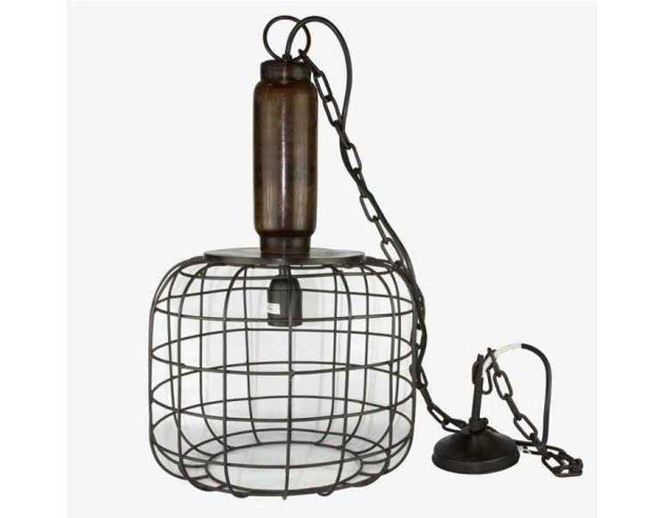 lampara-techo-industrial-madera-metal