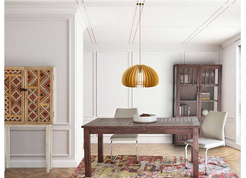 Mesa de comedor colonial extensible listones madera oscura - Mesa comedor colonial ...