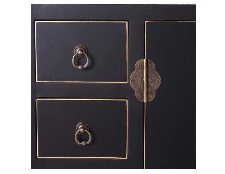 consola-recibidor-oriental-negra-cajones