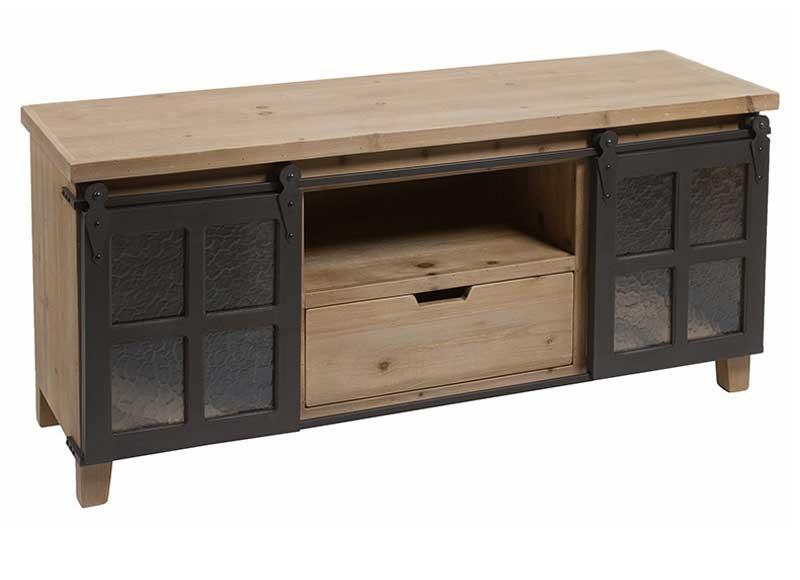 mueble de televisi n estilo industrial puertas correderas