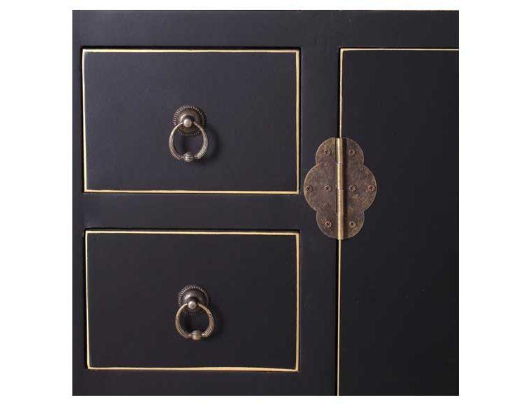 recibidor-oriental-negro-puertas-cajones-detalle