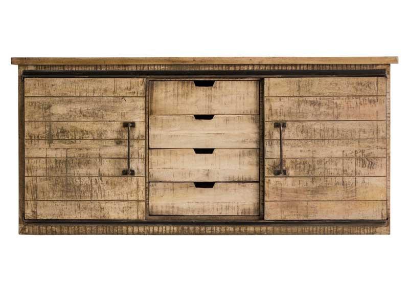 Aparador r stico industrial puertas correderas original - Aparador industrial ...
