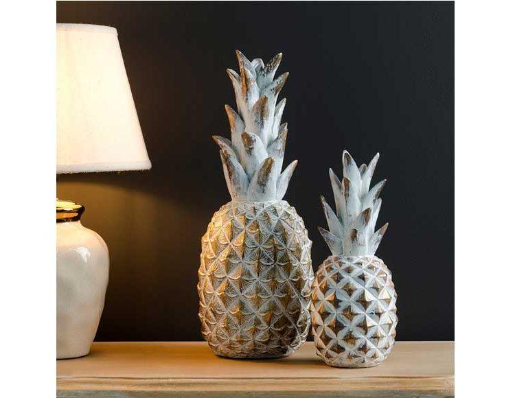 figura-piña-blanca-decoracion