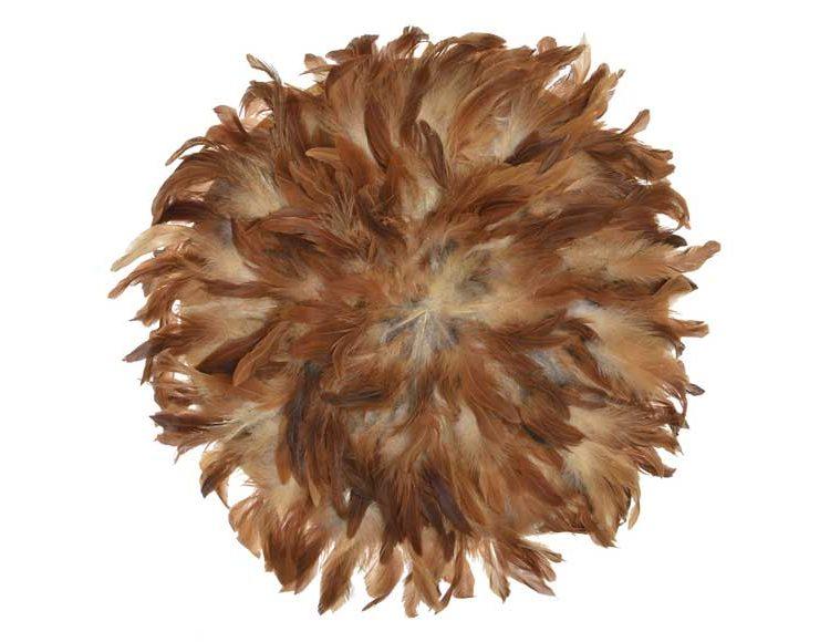 decoracion-pared-plumas-marrones