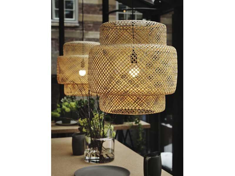 lamparas-bambu-comedor