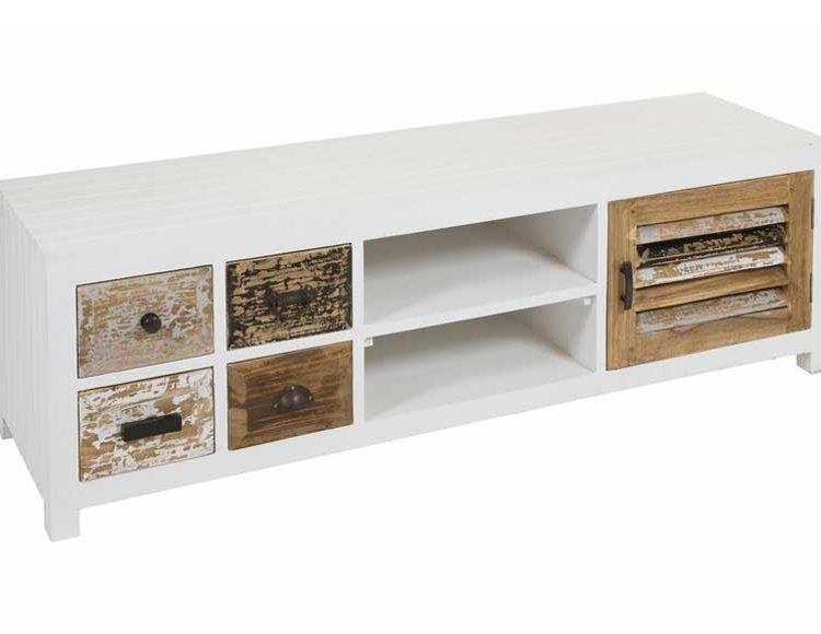 mueble-television-rustico-blanco-madera-natural