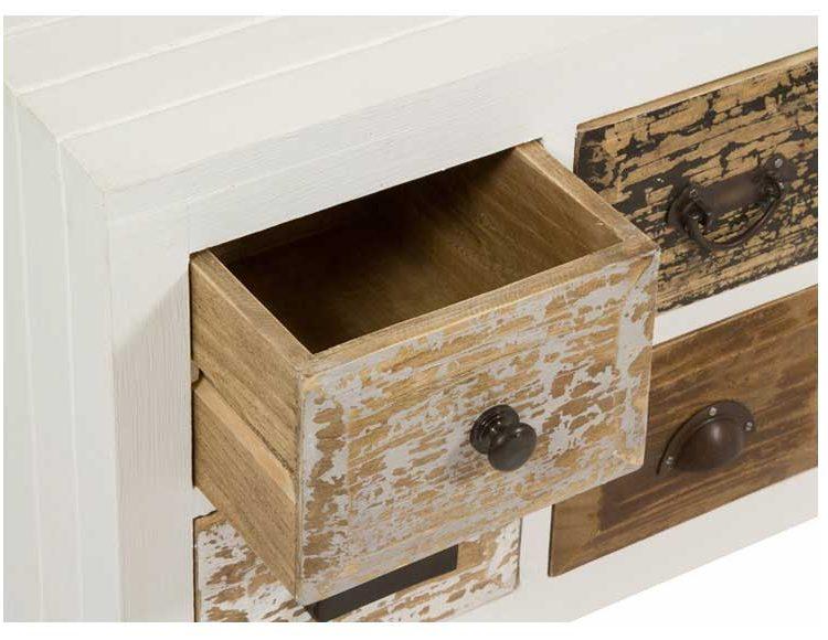 mueble-television-rustico-blanco-madera-natural-cajones