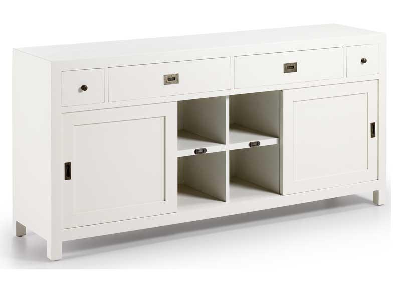 Aparador Blanco New White Puertas Correderas - Original House