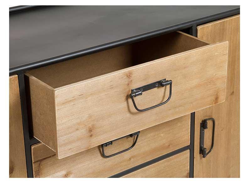 Aparador estilo industrial madera metal original house - Aparador industrial ...