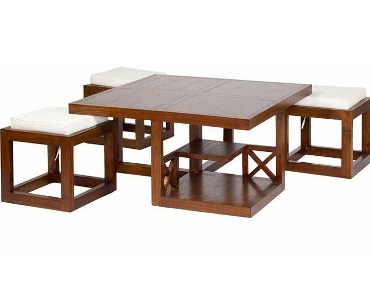 mesa-centro-cuadrada-madera-puffs