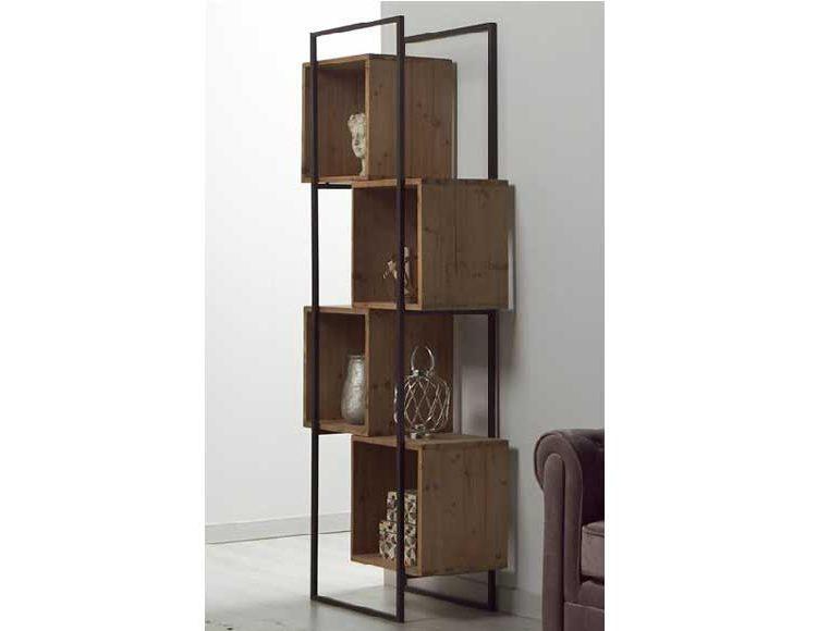 estanteria-industrial-estrecha-madera-metal