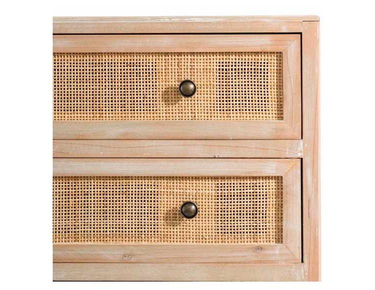 comoda-dormitorio-madera-natural-rattan-detalle